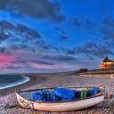 موج زیبایی در ساحل دریا