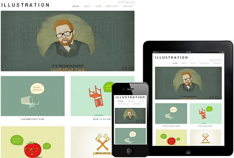 Illustration WordPress Responsive Theme